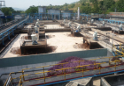 Chemical WWTP consisting of equalization, neutralization, flotation, aeration basins and a secondary clarifier